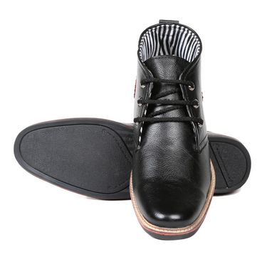 Ten Leather Black Casuals Shoes -ts175