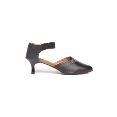Ten Leather Black Sandals -ts69
