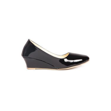 Ten Patent Leather Black Wedges -ts70