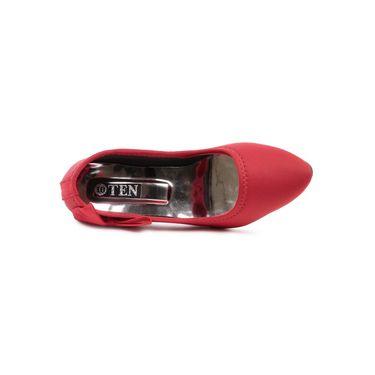 Ten Canvas Red Pumps -ts253