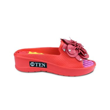 Ten PVC Red Flip Flop -ts165