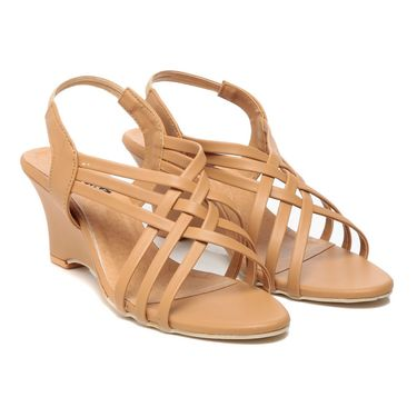Synthetic Leather Tan Gladiators -579Tan02