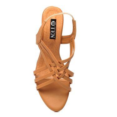 Synthetic Leather Tan Gladiators -579Tan02