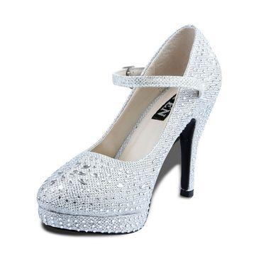 Ten Synthetic Silver Stilettos -ts07