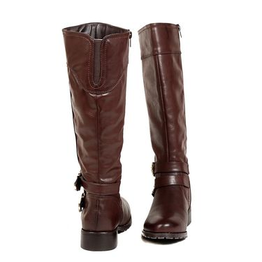 Leather Brown Boots For Womens -tb19