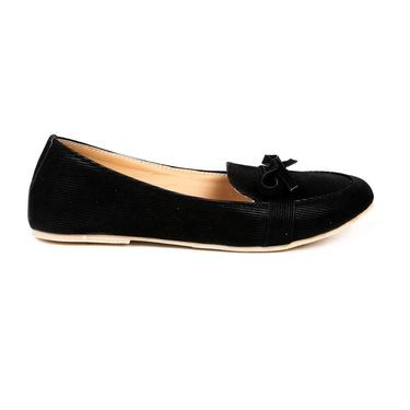 Ten Fabric Black Loafers -ts212