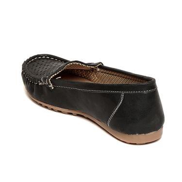 Leather Black Loafers -lfpncblk01