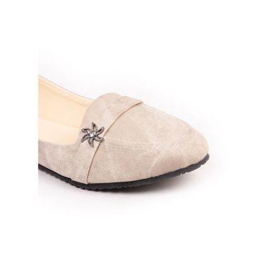 Ten Denim Cream Loafers -ts138
