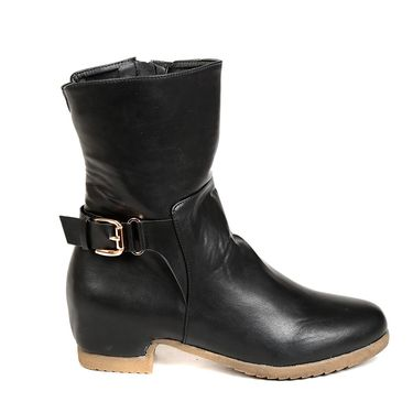 Leather Black Boots For Womens -tb22