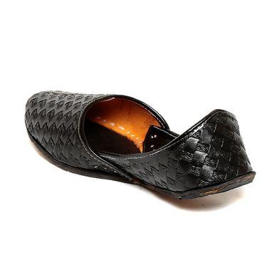 Ten Black Leather Juttis -mtj07
