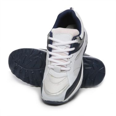 Ten White & Blue Mesh Sports Shoes -mtj11