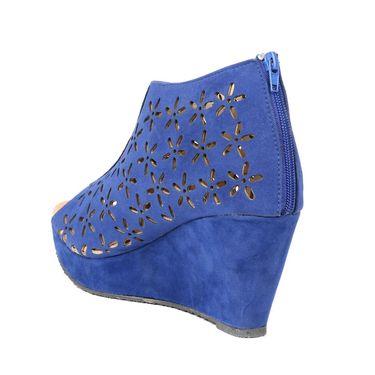 Ten Suede Blue Wedges -ts14