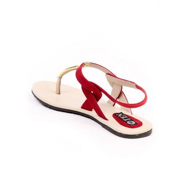 Ten Suade Leather 287 Women's Sandals - Red