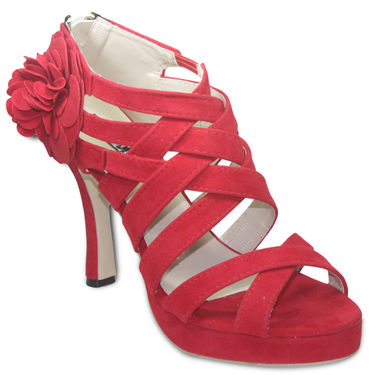 Ten Suede Red Stilettos -ts38