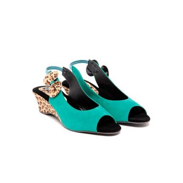 Ten Suade Leather 291 Women's Sandals - Sea Green
