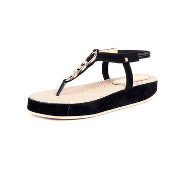 Ten Fabric Black Sandals -ts89