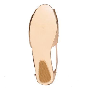 Leather Gold Sandal -496Agld