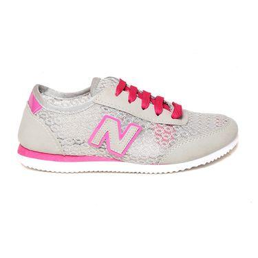 Ten Mesh Grey Womes Sports Shoes -ts322