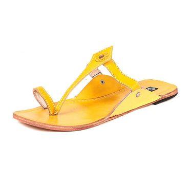 Womens Ethnic Slippers tj16 -Yellow