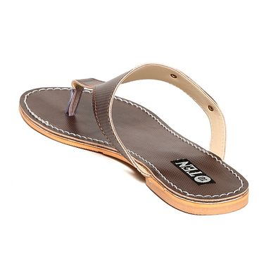 Leather Brown Slippers -09Brw01