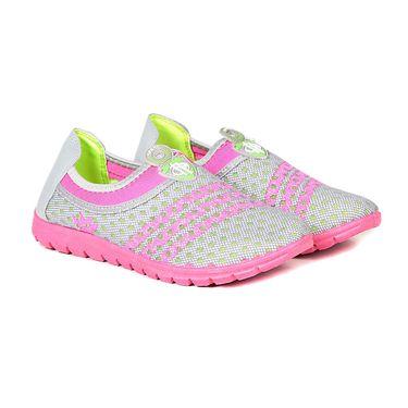 Ten Mesh Grey & Pink Womes Sports Shoes -ts334
