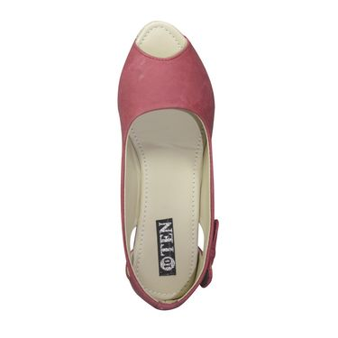 Ten Canvas Pink Wedges -ts61