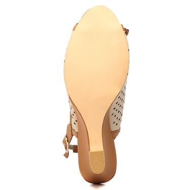 Synthetic Leather Beige Wedges -578Beg01