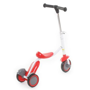 2 in 1 Sit or Kick Scooter for Kids - Red