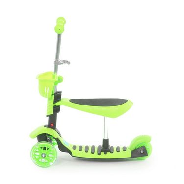 3 in 1 Sit or Kick & Height Adjustable Scooter for Kids - Green