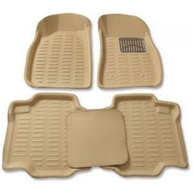 3D Foot Mats for Fiat Abarth Avventura Beige Color-TGS-3D beige 13