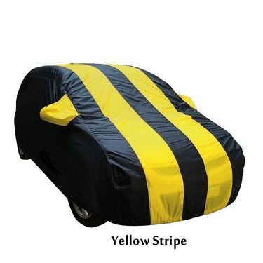 Nissan Micra Car Body Cover  imported Febric with Buckle Belt and Carry Bag-TGS-G-WPRF-121