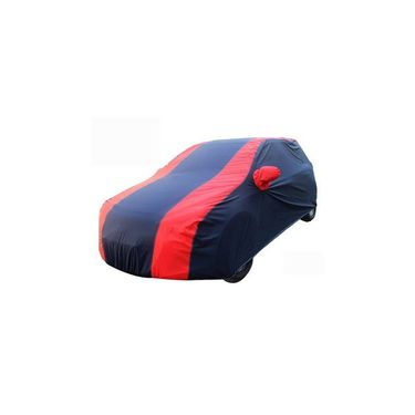 Mahindra NuvoSport Car Body Cover Red Blue imported Febric with Buckle Belt and Carry Bag-TGS-RB-70