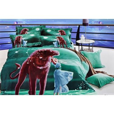 Valtellina 100% Cotton King Size 3D Double Bedsheet With 2 Pillow Covers-TK-005