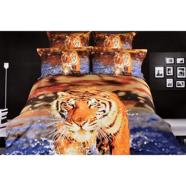 Valtellina 100% Cotton King Size 3D Double Bedsheet With 2 Pillow Covers-TK-012