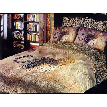 Valtellina 100% Cotton King Size 3D Double Bedsheet With 2 Pillow Covers-TK-026