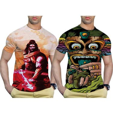 Pack of 2 Graphic Printed Tshirt by Effit_TRP0503