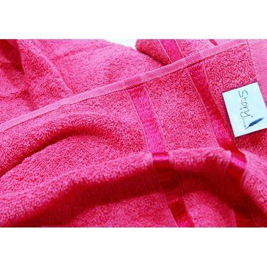 Story@Home Set of 2 Pcs Bath Towel 100% Cotton-Pink-TW1202-2X