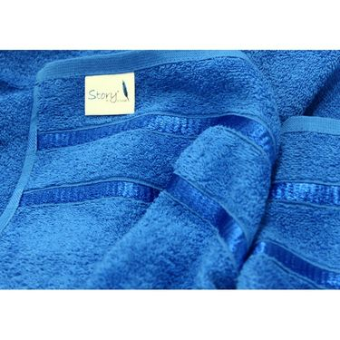 Story@Home Pack of 10 Face Towel 100% Cotton-Blue-TW1204-S