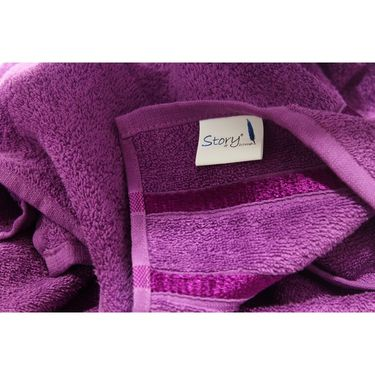 Story@Home Pack of 10 Face Towel 100% Cotton-Purple-TW1206-S