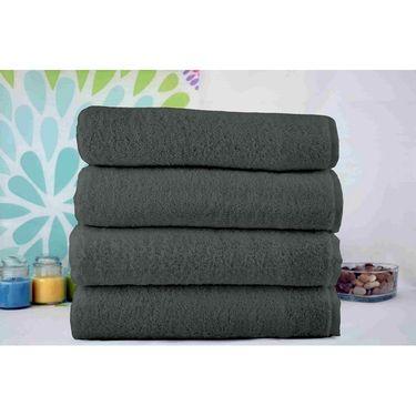Story@Home Pack of 4 Pcs Bath Towel 100% Cotton-Grey-TWL-1005-B
