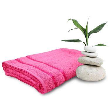 Set of 2 Storyathome Pink Cotton Womens Bath Towel-TW_2-1202-L