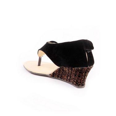 Ten Suade Leather 238 Women's Sandals - Black