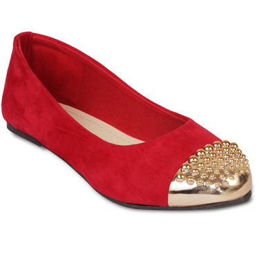 Ten Suede Leather Bellies For Women_tenbl047 - Red
