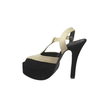 Ten Suede Leather Stilettos For Women_tenbl118 - Black