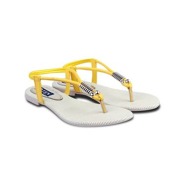 Ten Faux Leather Womes Sandals For Women_tenbl124 - Yellow