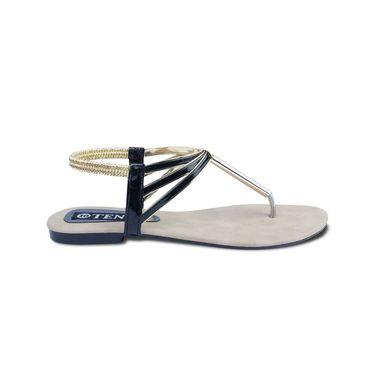 Ten Patent Leather Womes Sandals For Women_tenbl142 - Black