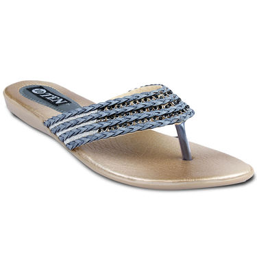 Ten Synthetic Sandals For Women_tenbl166 - Grey