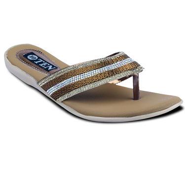 Ten Synthetic Sandals For Women_tenbl171 - Brown