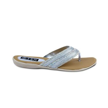 Ten Synthetic Sandals For Women_tenbl173 - Silver