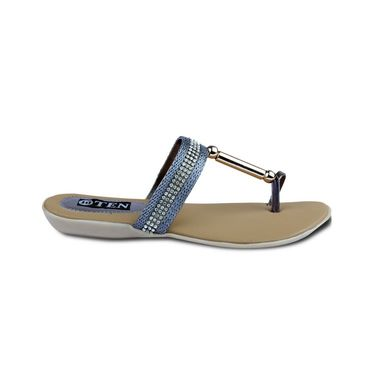 Ten Synthetic Sandals For Women_tenbl183 - Grey